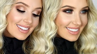 FULL GLAM: Cream Contour/Highlight, Sultry Eyes, Glossy Lips! | Lauren Curtis