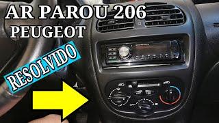 ar condicionado Peugeot 206 parou