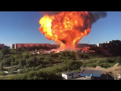 Explozie la o benzinărie din Novosibirsk