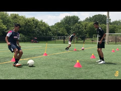 Preseason Soccer Drills  Passing  Receiving  Fitness On The Ball!