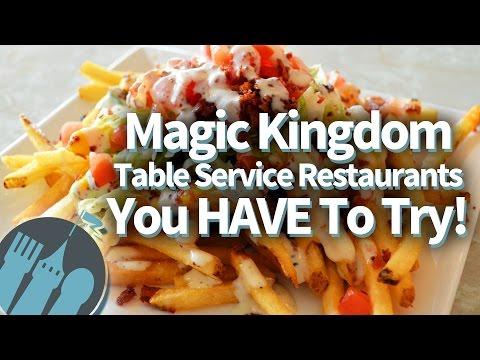 Magic Kingdom's Best Table Service Restaurants!!