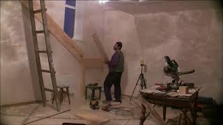 видео Крепление косоура к перекрытию и лестничной площадке