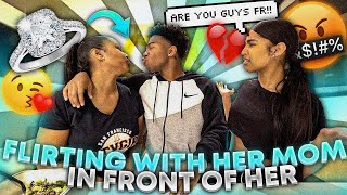 I FLIRTED WITH MY GIRL FRIENDS MOM IN FRONT OF HER! *I PROPOSED TO HER*