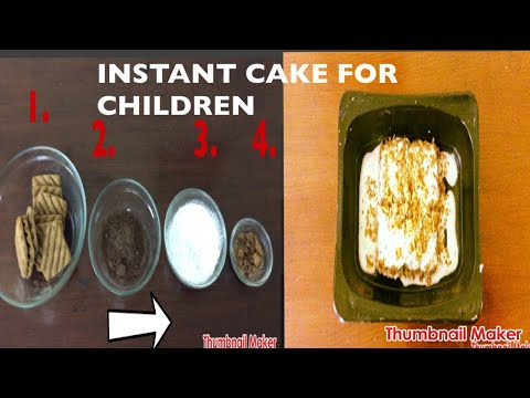 Instant cake: Cooking without fire for kids