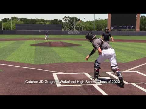 Catcher JD Gregson Wakeland High School Class of 2020