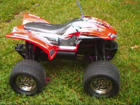 Quad 4 Wheeler >> RC ATV 4 wheeler HPI E Savage First look and test run - YouTube