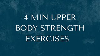 4 Min Upper Body Strength Exercises using a Theraband/ pair of TIghts