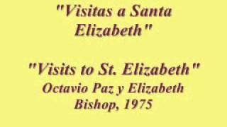 Octavio Paz recitando a Elizabeth Bishop, 1975