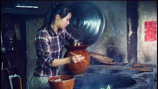 龙梅梅L:春天种的小白菜长大了,梅梅用最传统的方式制作酸菜