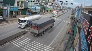 Tại nạn hài hước Quốc lộ 1A đoạn giữa Thị Trấn Sông Vệ huyện Tư Nghĩa - Quảng Ngãi