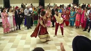 Beautiful Punjabi couple dance || gallan mithiyan...