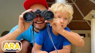 ليف والعائلة - قصة مع الحيوانات / pretend play #2