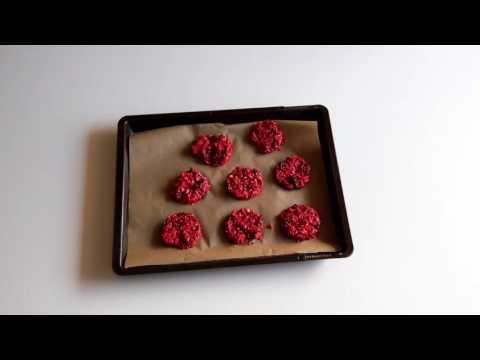Ciasteczka Owsiane Z Malinami I Orzechami