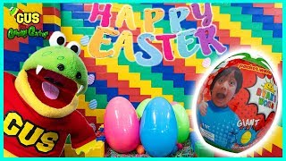Easter Egg Hunt! Gus the Gummy Gator Huge Lego Fort
