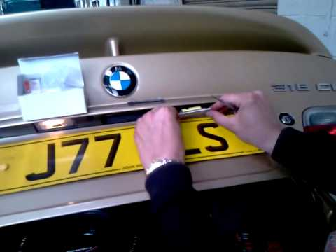 BMW E46 (2003) LED License plate unit fitting  YouTube