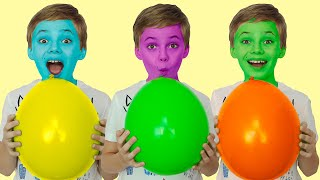 Magic Colored Ballons fun kid video / Nick and Poli