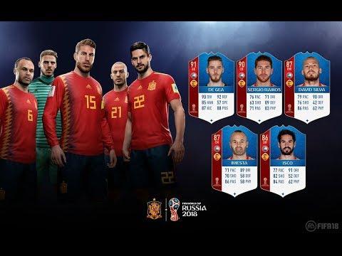 *OFICIAL* NUEVAS STATS ESPAÑA! MUNDIAL RUSIA 2018 DLC - FIFA 18 ULTIMATE TEAM