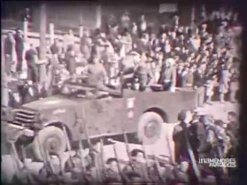 Défilé militaire à Verdun à dater 1944 ou 1946
