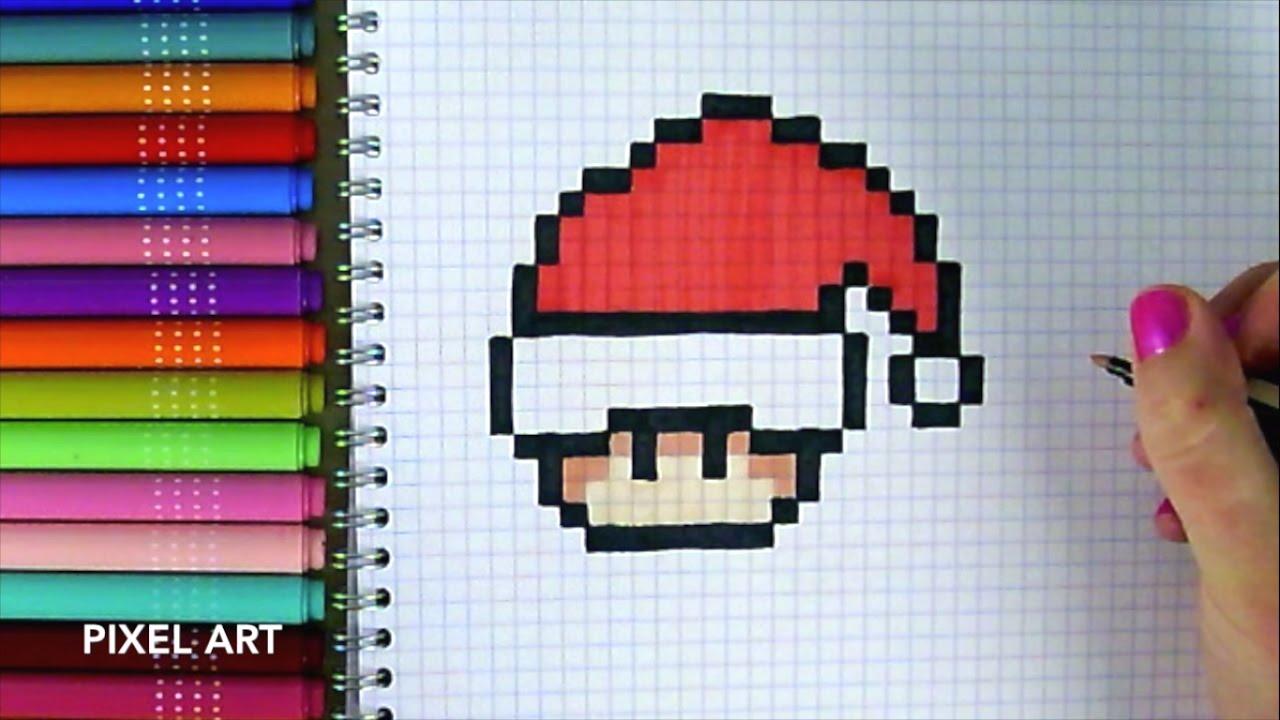 Pixel Art Minion Père Noël