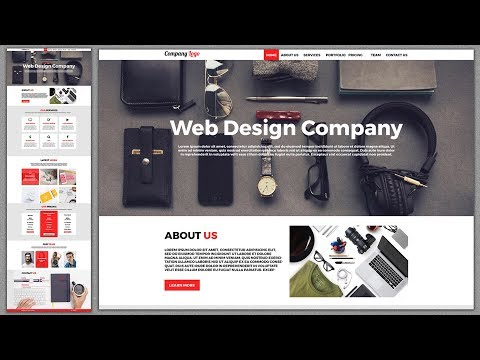 Photoshop Web Design Tutorial 2018: How to Design Responsive Website Template In Photoshop CC 2018