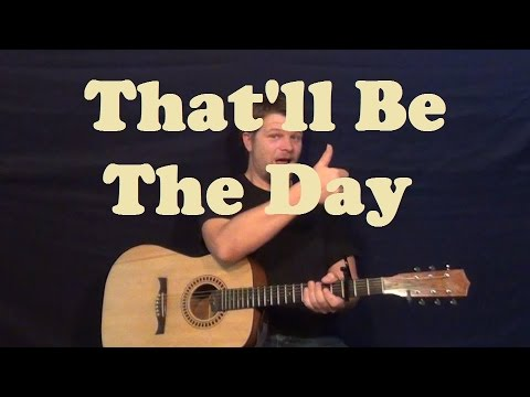 That'll Be The Day (Buddy Holly) Easy Guitar Lesson How to Play Tutorial Strum Chords Licks