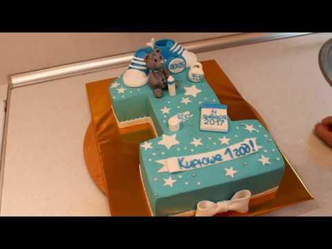 Торт Единичка Сборка И Украшение Творожно-Масляным Кремом