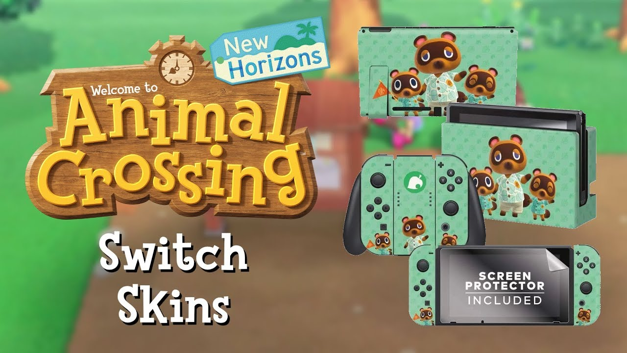 Official Nintendo Switch Skins For Animal Crossing New Horizons