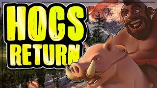 HOGS ARE COMING BACK | BREAKING DOWN HOG ATTACK VARIATIONS AT TH9 | Clash of Clans