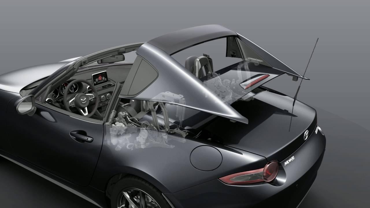 ชมความล้ำ กลไกการพับหลังคาของ Mazda MX-5 RF