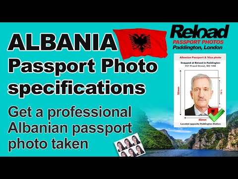 Albanian Passport Photo Specifications And Visa Photos For Albania Snapped In Paddington, London