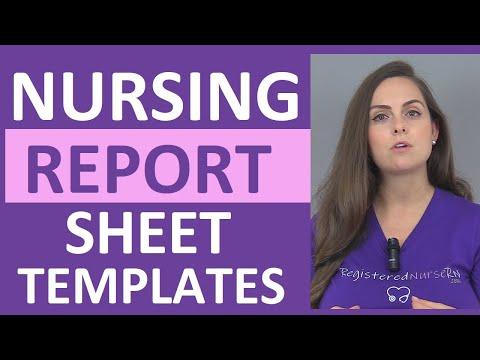 Nursing Shift Report Sheet Templates How to Give a Nursing Shift