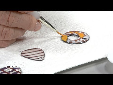 Cool Tools: Sunshine Color Enameling and Tube Rivet Earrings by Jan Harrell