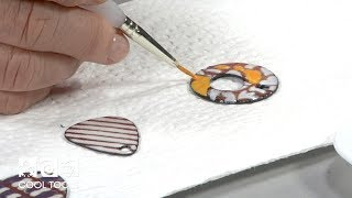 Cool Tools | Sunshine Color Enameling and Tube Rivet Earrings by Jan Harrell