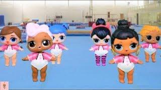 lol surprise dolls gymnastics class ep2