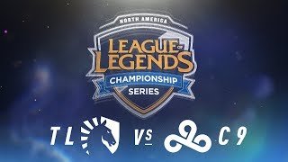 TL vs. C9 - Week 9 Day 1 | NA LCS Spring Split | Team Liquid vs. Cloud9 (2018)