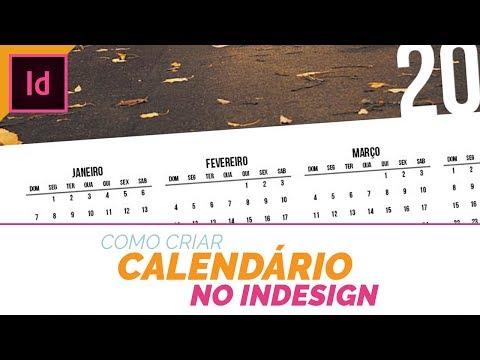 Calendario Indesign.Como Criar Um Calendario No Indesign Youtube