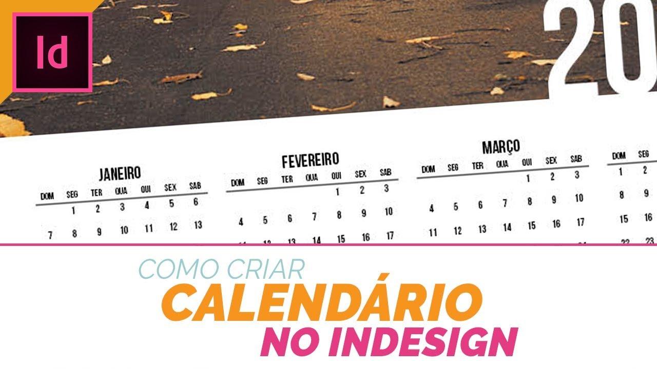 Calendario Indesign.Como Criar Um Calendario No Indesign