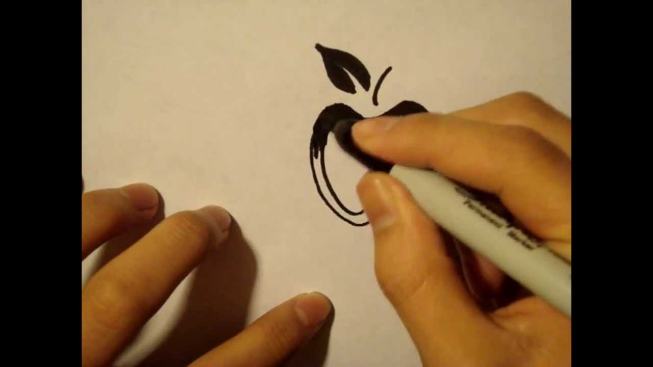 Draw Easy Stuff But Cool-Apple-Cute|For Beginners|Easy Things To Draw ...