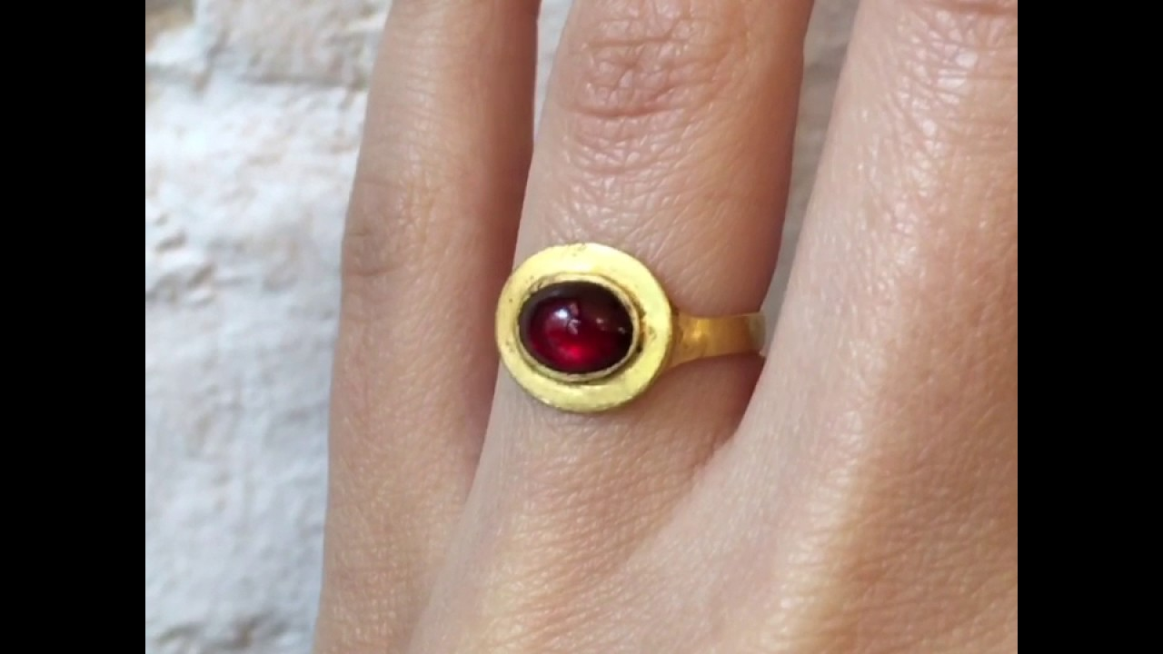 Ancient Roman Rings erica weiner ancient roman ring with garnet cabochon