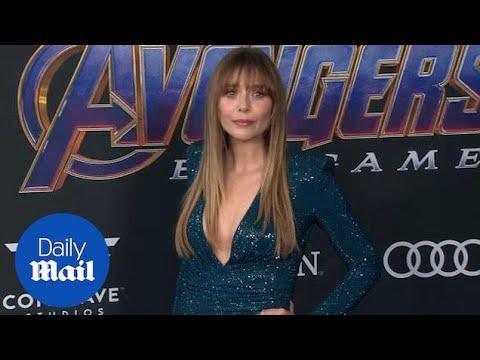Elizabeth Olsen Wears Glittering Dress To Avengers Premiere