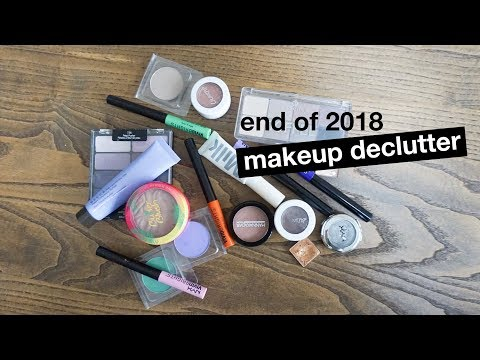 End of 2018 Makeup Declutter | morerebe from YouTube · Duration:  11 minutes 43 seconds