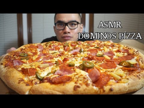 Asmr DOMINOS PIZZA *Eating Sounds *NO TALKING