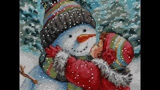 Покупки рукодельные - красивые ткани и ленты, оформляю вышивку Поцелуй снеговика в подушку! ☕(, 2016-11-19T16:17:19.000Z)