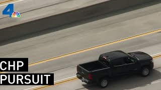 Police Chase Driver in Pacoima Area