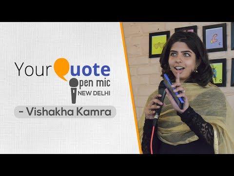 'Sheesha' by Vishakha Kamra   Hindi Poetry   YQ Open Mic 3 New Delhi