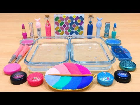 Pink vs Blue ! Mixing Makeup and Clay into Clear Slime   Satisfying Slime Videos #620