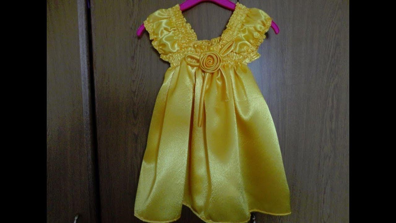 Сшить платье на девочку без выкроек