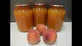 Персиковый СОК на ЗИМУ без Соковыжималки / Домашняя консервация персиков