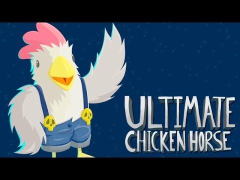 EN LA CASCADA| C/ Luh y Exo | Ultimate chicken horse - YouTube