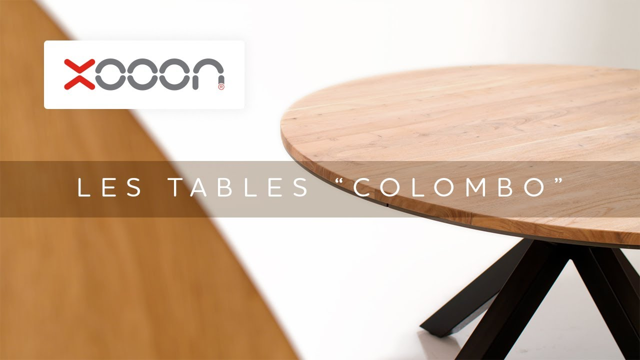 colombo table ronde 130 cm chene massif mdf